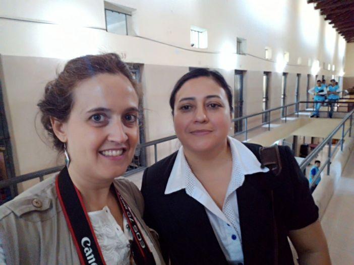 Myriam Ramírez, Coordinadora Jurídica de la Pastoral Carcelaria de Asunción (Paraguay) con Marta Isabel González (Selfie)