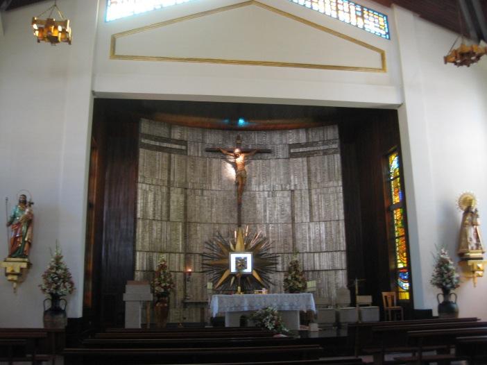 El oratorio de la Residencia Virgen de los Desamparados de Astorga.