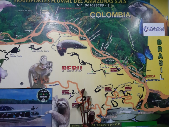 Mapa esquemático de la zona. Foto. Marta Isabel González Álvarez / CIDSE y REPAM
