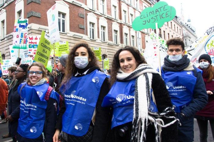 Natalia Díaz junto al resto de miembros de la delegación que Manos Unidas envió a la COP24 de Katowice a participar en los eventos organizados por CIDSE