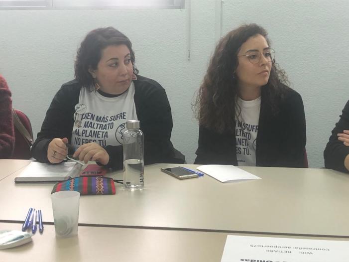 Durante la COP25 de Madrid los jóvenes activistas y voluntarios de Manos Unidas se reunieron y trabajaron juntos.